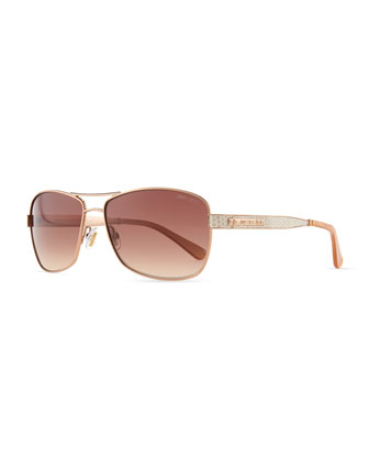 Cris Metal Sunglasses, Red