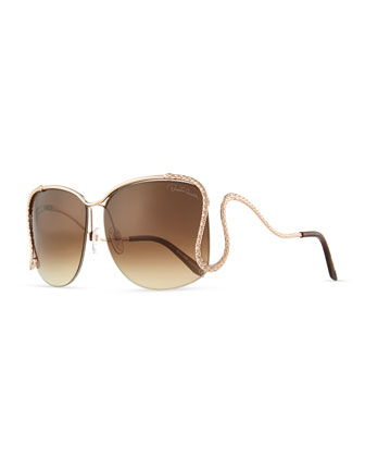 Serpent Open-Temple Sunglasses