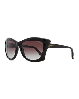 Tom Ford Lana Square Cat-Eye Sunglasses