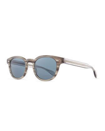 Sheldrake Round Photochromic Sunglasses, Gray Tortoise