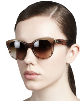 Oliver Peoples Jacey Gradient Sunglasses, Pecan Pie