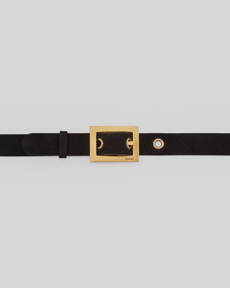 Adjustable Leather Belt, Black
