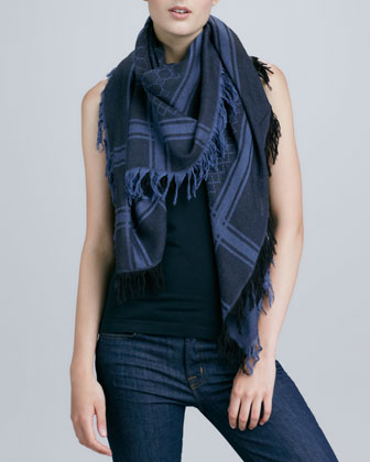 Printed Wool-Silk Scarf