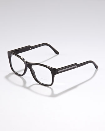Oversized Square Fashion Sunglasses, Black
