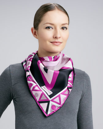 Mikonos Silk Scarf, Pink