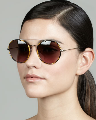 Catwalk Round Aviator Sunglasses