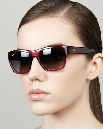 Highstreet Rectangular Sunglasses, Old Pink
