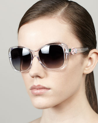 Rose-Temple Sunglasses, Crystal