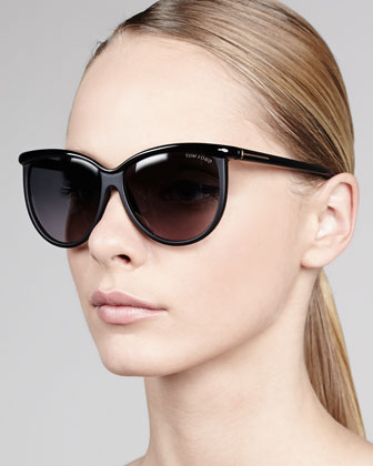 Josephine Enamel Sunglasses, Black
