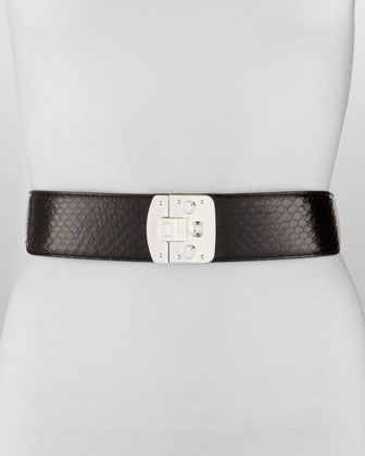 Python Stretch Belt, Black
