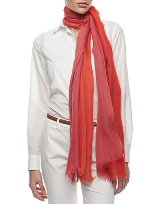 Aylit Soffio Scarf, Orange/Red