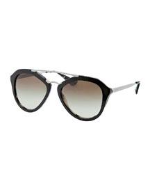 Geometric Havana Sunglasses