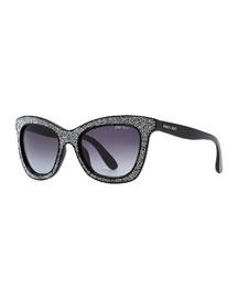 Flash Crystal Sunglasses, Black
