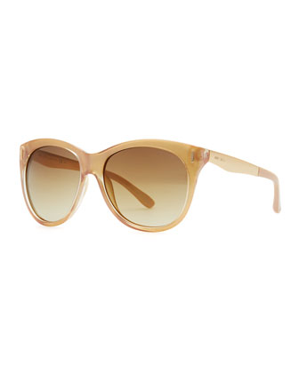 Ally Cat-Eye Sunglasses, Gold