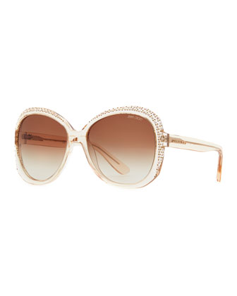 Crystal-Trimmed Sunglasses