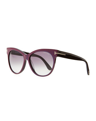 Saskia Acetate Cat-Eye Sunglasses, Blue