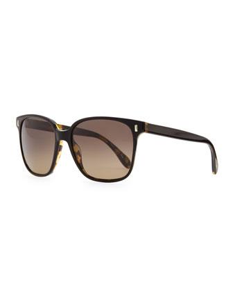 Marmont Plastic Sunglasses, Black/Tortoise