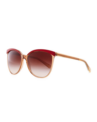 Ria Cat-Eye Sunglasses, Cranberry
