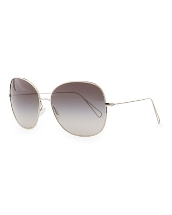 Isabel Marant par Oliver Peoples Daria 62 Oversized Sunglasses, Silver/Gray Gradient