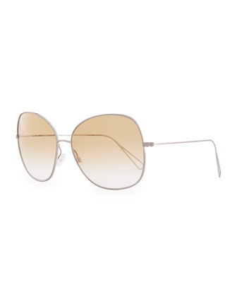 Isabel Marant par Oliver Peoples Daria 62 Oversized Sunglasses, Silver/Honey Gradient