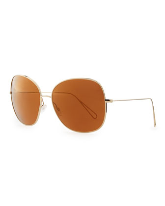 Isabel Marant par Oliver Peoples Daria 62 Oversized Sunglasses, Light Gold/Mirrored Peach