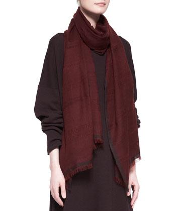 Double Color Weave Cashmere Scarf