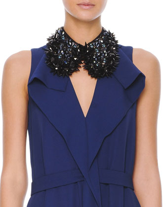 Studded Beaded Hook Collar