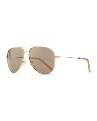 Classic Rose Golden Aviator Sunglasses