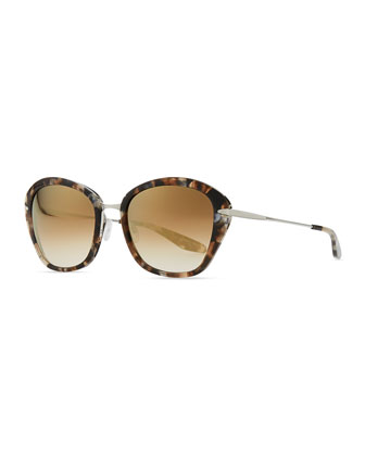 Farr Marbled Acetate & Metal Butterfly Sunglasses