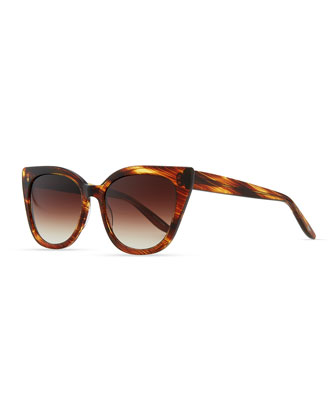 Shirelle Cat-Eye Sunglasses, Banyan Tortoise