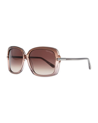 Plastic Square Sunglasses, Pink