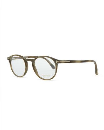 Plastic Round Fashion Glasses, Green
