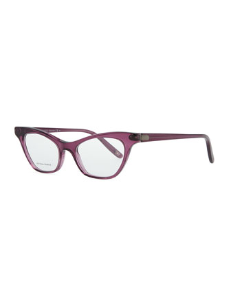 Cat-Eye Acetate Fashion Glasses, Cyclamen