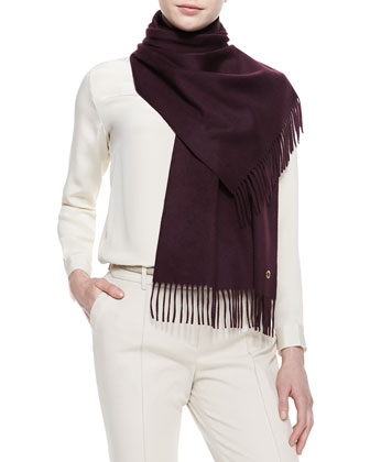 Sciarpa Grande Cashmere Scarf, Black Grape