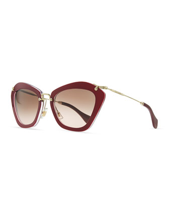 Pentagon Acetate Sunglasses, Violet