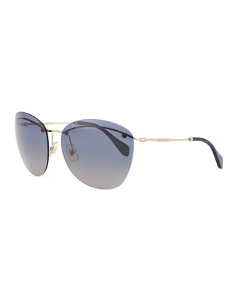 Phantos Sunglasses, Light Blue