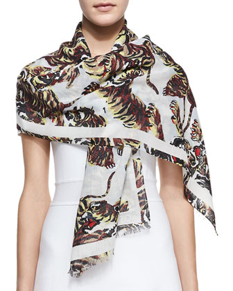 Flying Tigers Printed Scarf