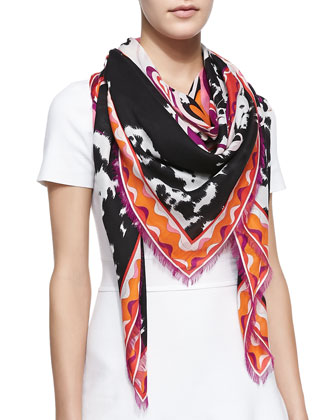 Orchidee Appaloosa Square Scarf