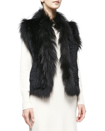 Rabbit and Fox Fur Vest