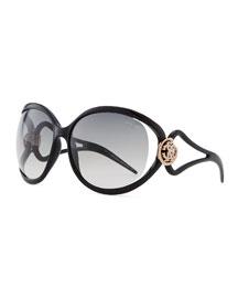 Grafias Gradient Sunglasses with Crystal Logo
