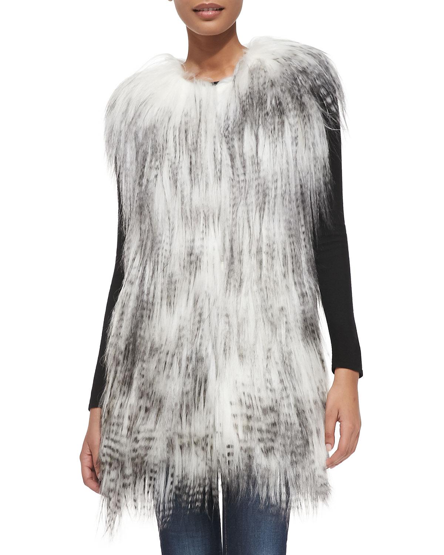 Long Goat Fur Vest