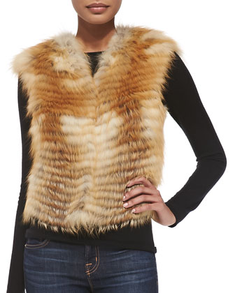 Let Out Fox Fur Vest