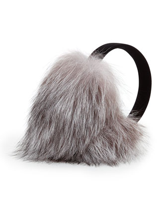 Fox Fur Earmuffs, Natural