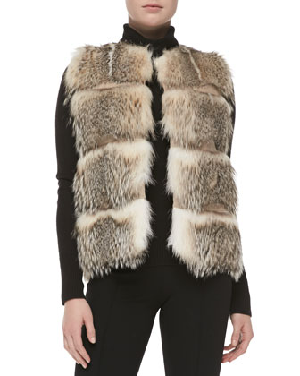 Striped Badger Fur Vest