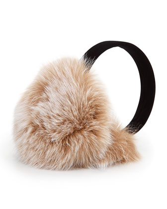 Fox Fur Earmuffs, Blonde