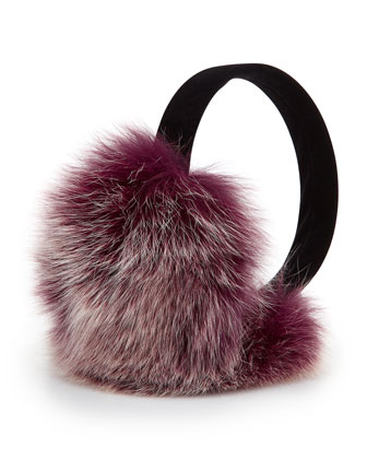 Fox Fur Earmuffs, Beet Root