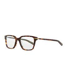 Stone Rectangle Fashion Glasses, Tortoise