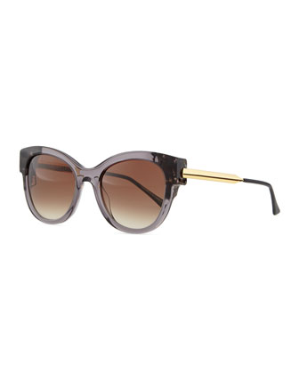 Angely Cat-Eye Sunglasses, Gray