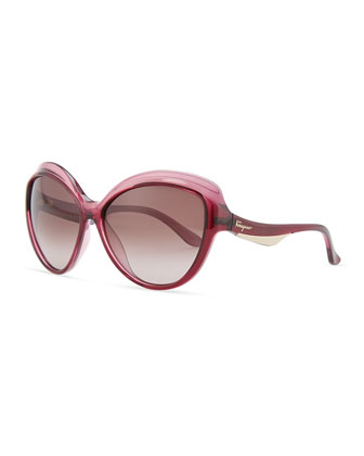 Butterfly Sunglasses, Burgundy