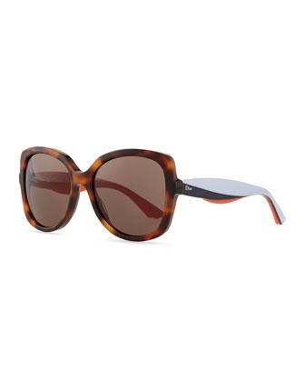 Envol 2 Oversized Sunglasses, Black/Yellow